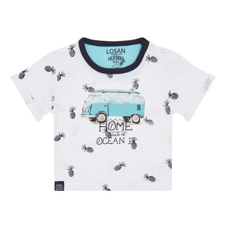 Babies Pineapple Print T-Shirt White