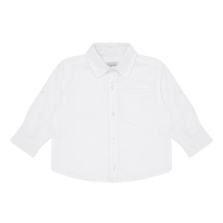 Boys Long Sleeve Cotton Shirt White