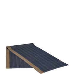 Herringbone Table Runner Deep Blue