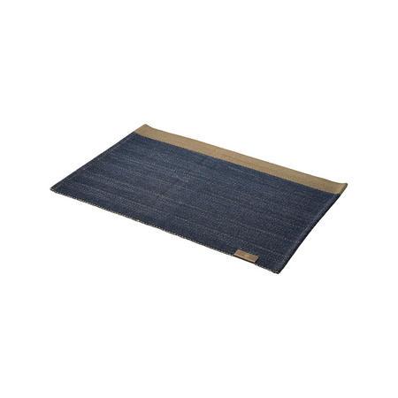 Herringbone Placemat Deep Blue