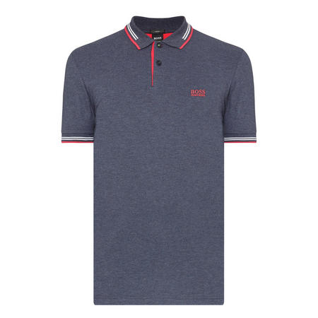 Paule Tipped Polo Shirt Navy