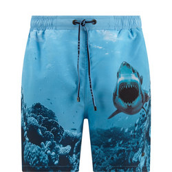 Shark Swim Shorts Blue