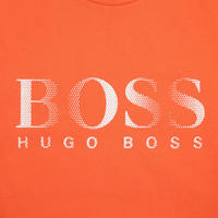 Crew Neck Logo T-Shirt Orange