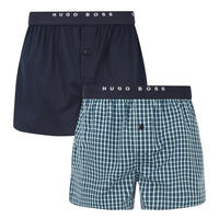 Two-Pack Woven Boxer Shorts Multicolour