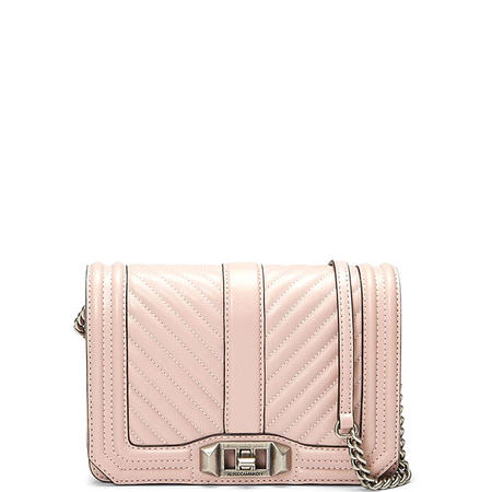 Chevron Quilted Small Love Crossbody Bag