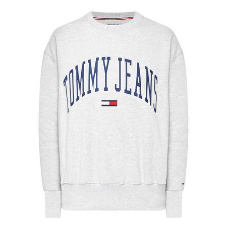College Crew Neck Sweatshirt Grey