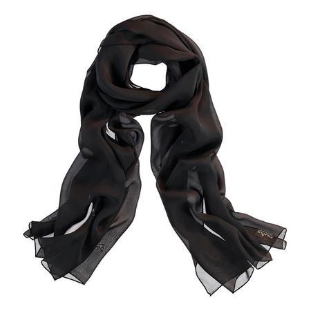 Silk Wrap Scarf Black