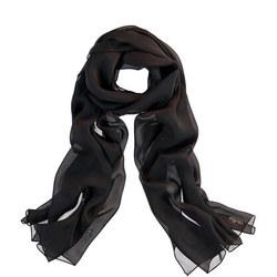 Silk Wrap Scarf Black
