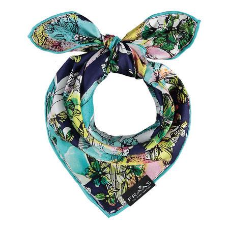 Floral Silk Square Scarf Multicolour