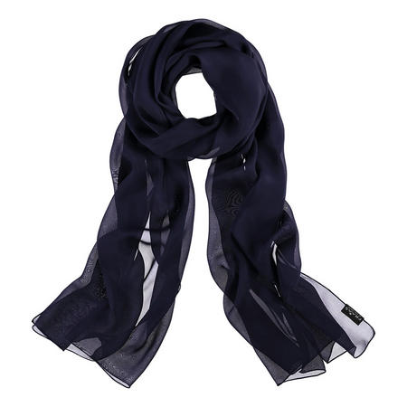 Silk Wrap Scarf Blue