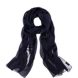 Silk Wrap Scarf Blue