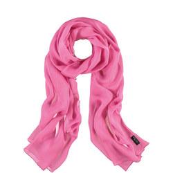 Silk Wrap Scarf Pink