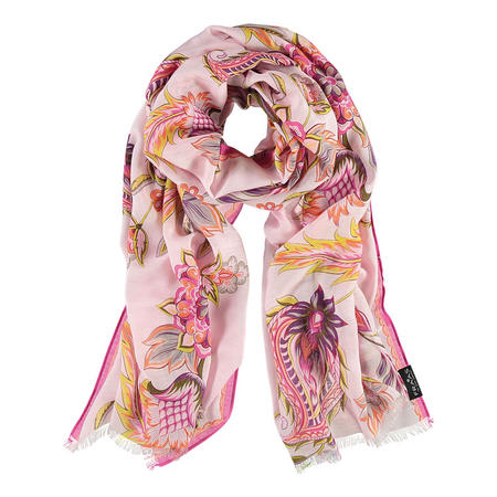 Abstract Bloom Scarf Pink