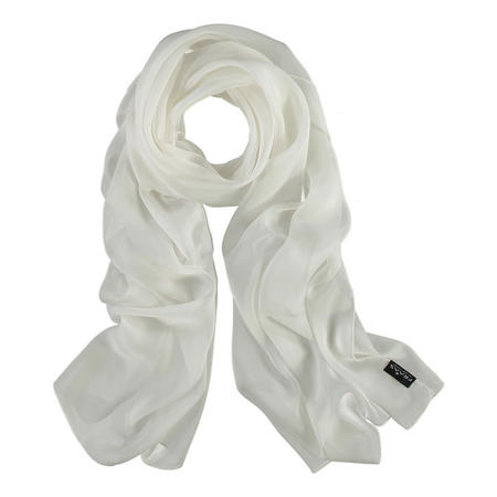 Silk Wrap Scarf White