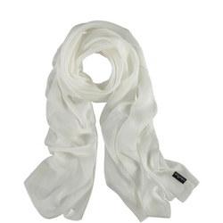 Silk Wrap Scarf White