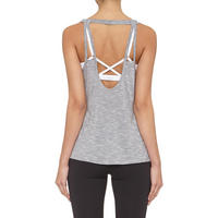 Repeat Slogan Print Vest Grey