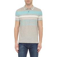 Striped Polo Shirt Grey