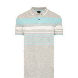 Striped Polo Shirt Grey
