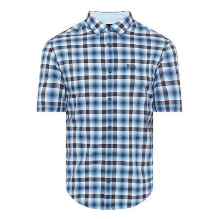 Barn Short Sleeve Check Shirt Blue