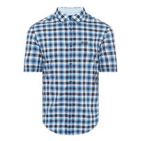 Barn Short Sleeve Check Shirt Blue