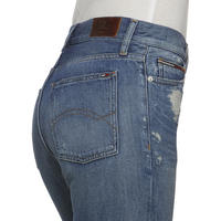 Izzy Distressed High Rise Slim Jeans Blue