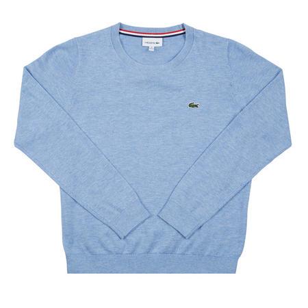 Boys Crew Neck Cotton Jersey Sweater Blue