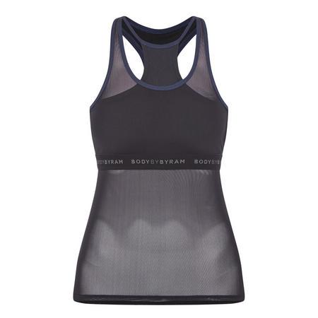 Gaia Vest Top Black