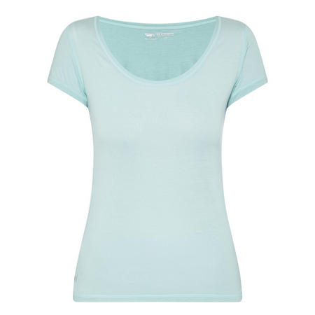 Scoop Neck Wrap Back T-Shirt Green