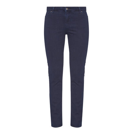 High-Waisted Slim Jeans Navy