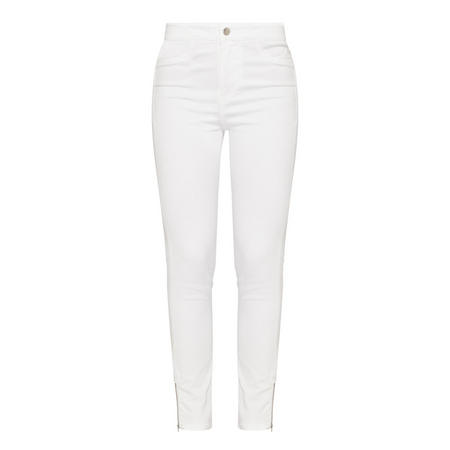 Moto Jeggings White