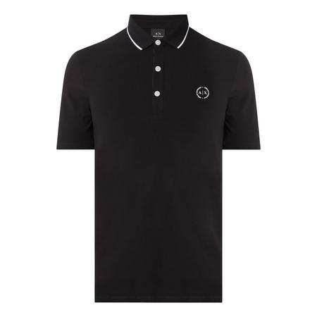 Tipped Polo Shirt Black