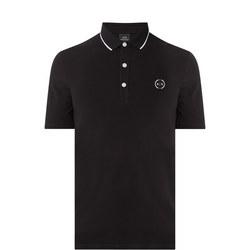 Tipped Polo Shirt Black