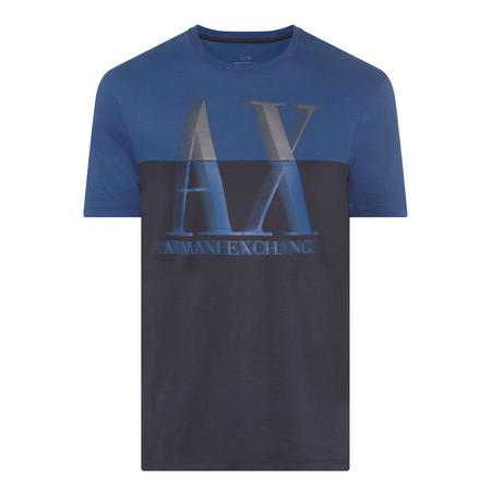 Colour Block Logo T-Shirt Dark Blue