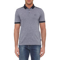 Contrasting Polo Shirt Navy