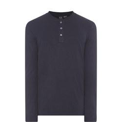 Long Sleeve Henley T-Shirt Navy