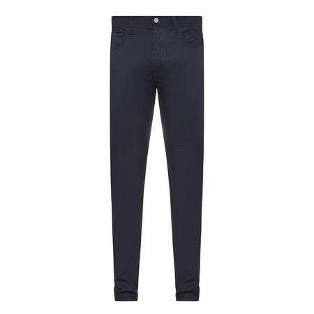 Straight Fit Trousers Navy