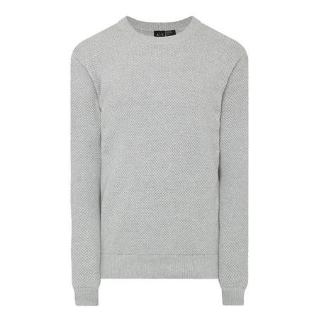 Textured Crew Neck Sweater Grey