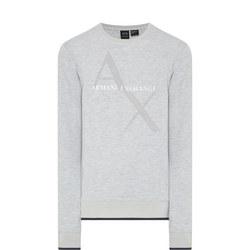 Diagonal Logo Sweat Top Grey