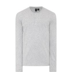 Long Sleeve Henley T-Shirt Grey