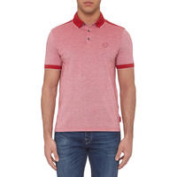 Contrasting Polo Shirt Red