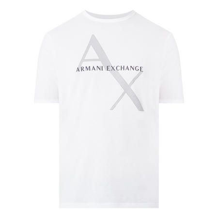 Diagonal Logo T-Shirt White