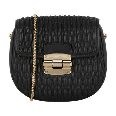 Club Mini Quilted Crossbody Bag Black
