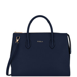 Pin Medium Satchel Bag Navy