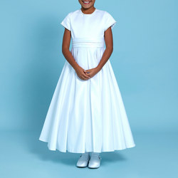 Bergamot Communion Dress White