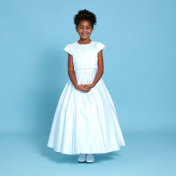 Rosebud Communion Dress White
