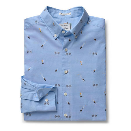 Le Mans Embroidered Shirt Blue