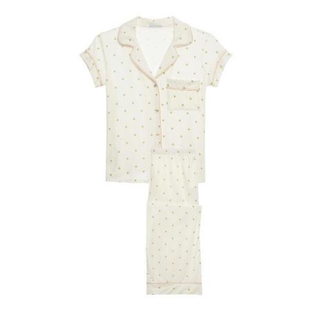 Giving Palm Short Pyjama Set White