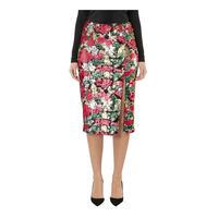 Rose Sequin Skirt Pink