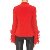 Floral Sequin Blouse Red