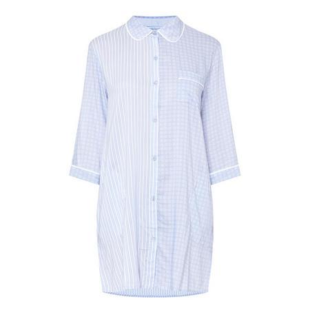 Stripe Night Shirt Blue